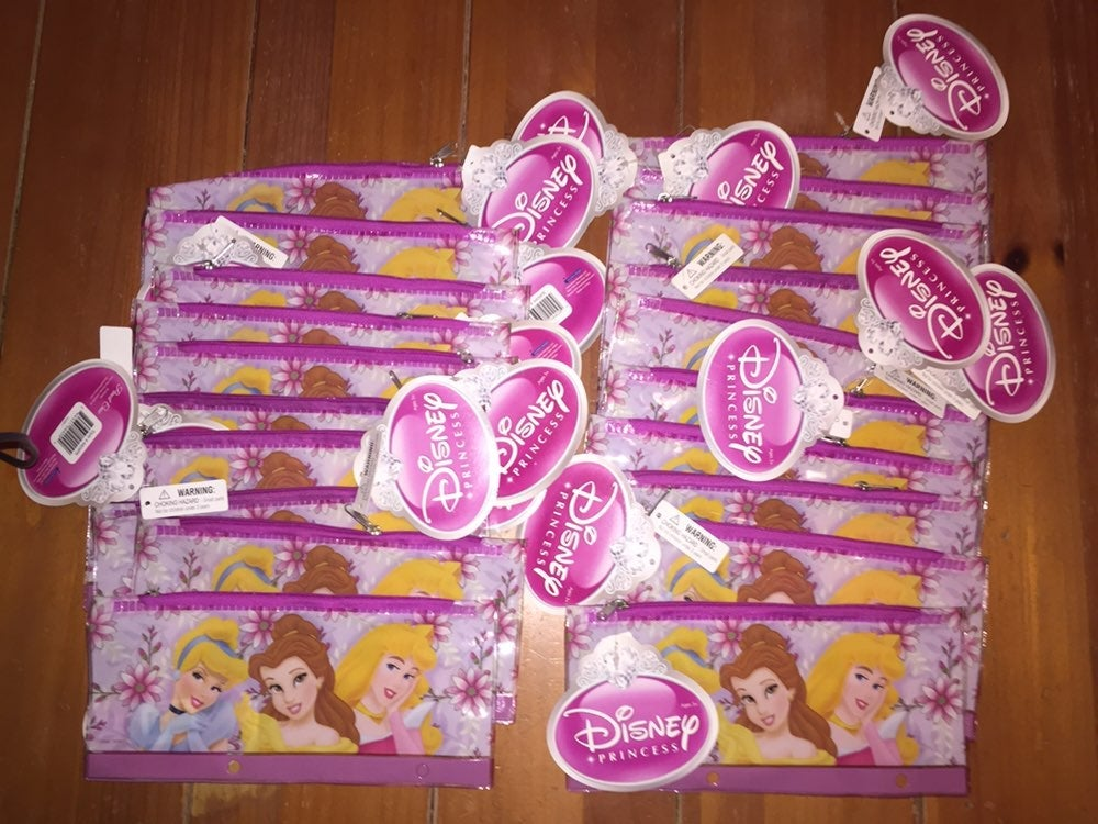 Disney Prinesses 20 Pencil Case Lot