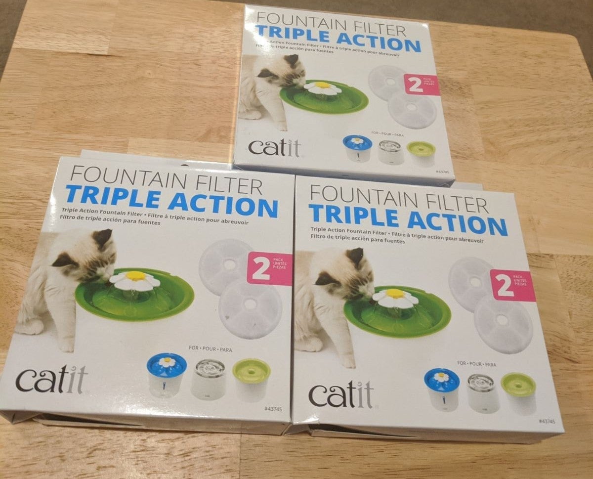 Catit Fountain Filters - Triple Action