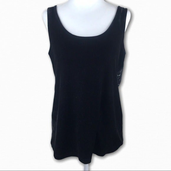MINKPINK Velvet Tank with Lace Open Back