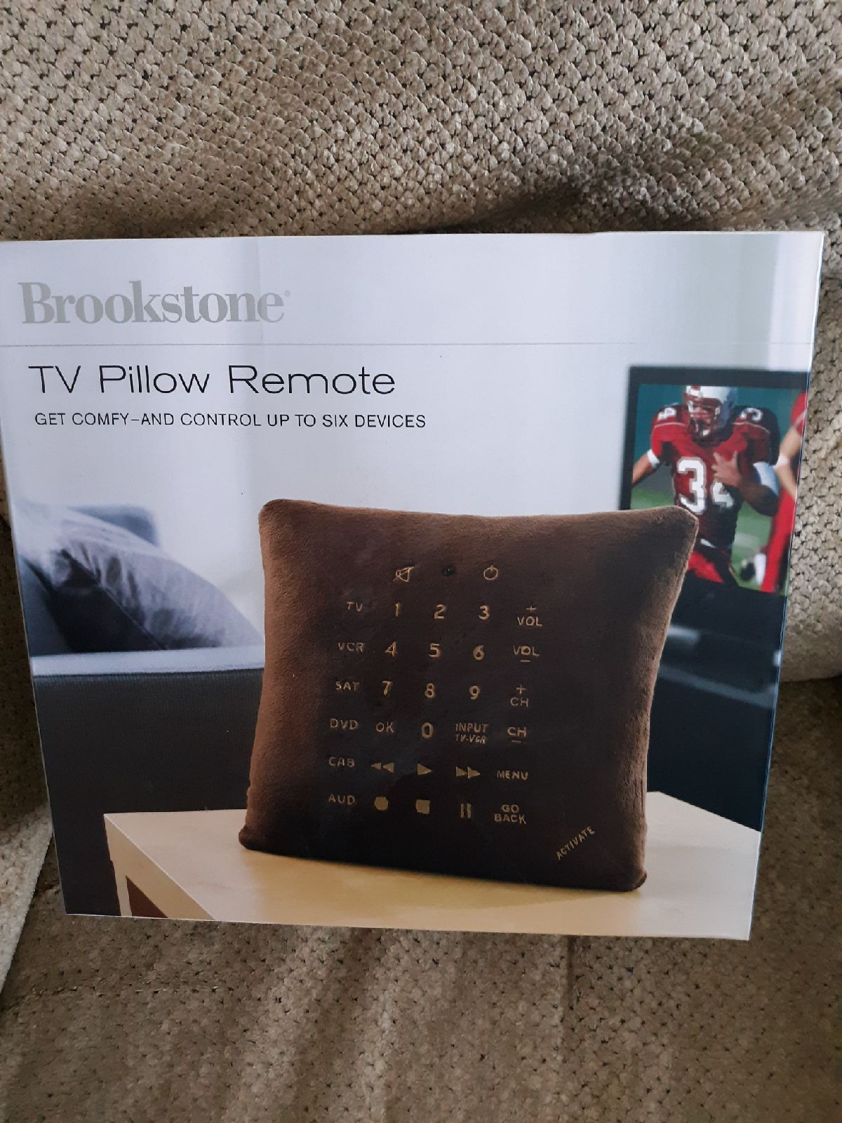 Tv pillow remote
