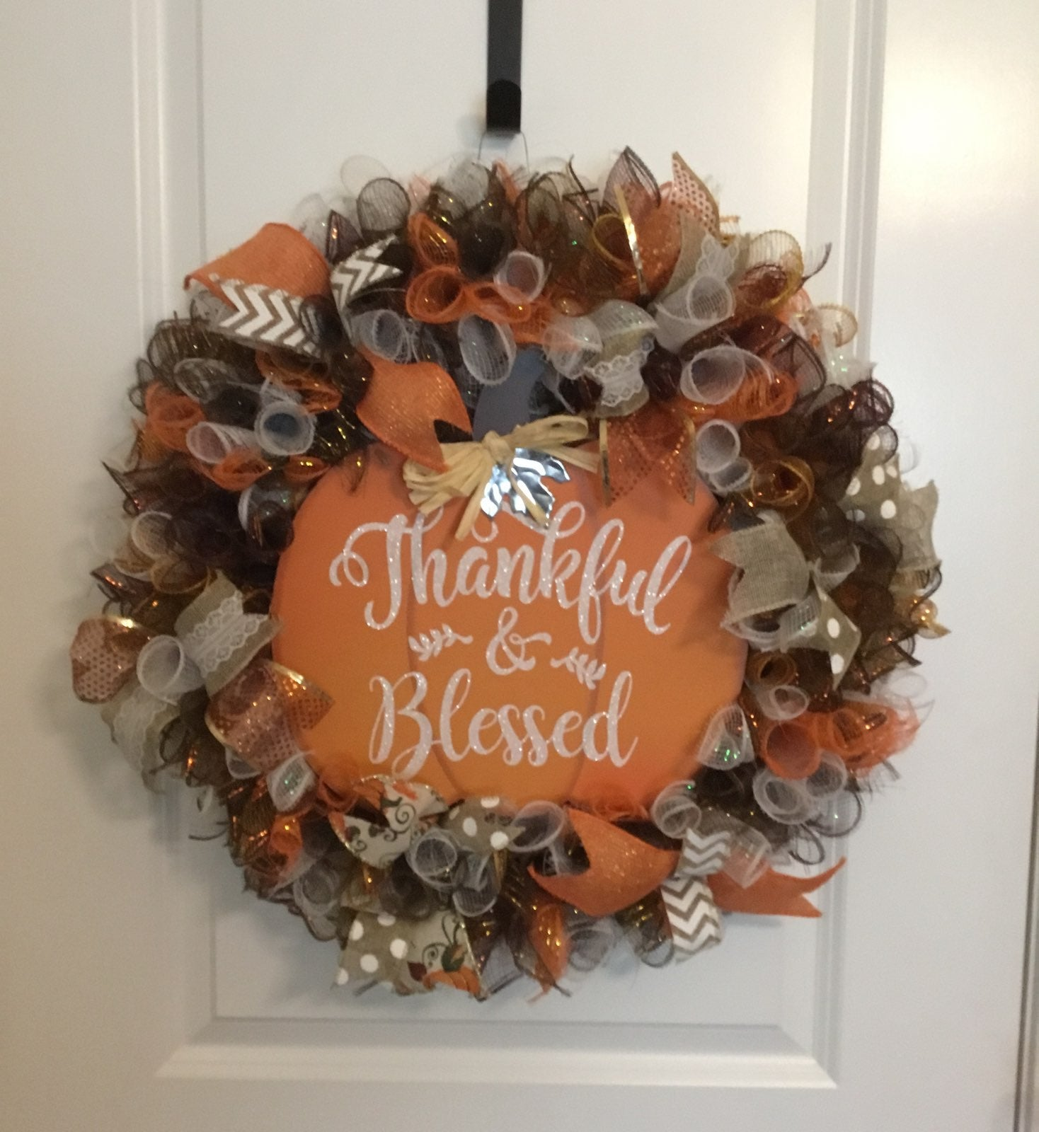 "Fall ""Thankful & Blessed"" Wreath"