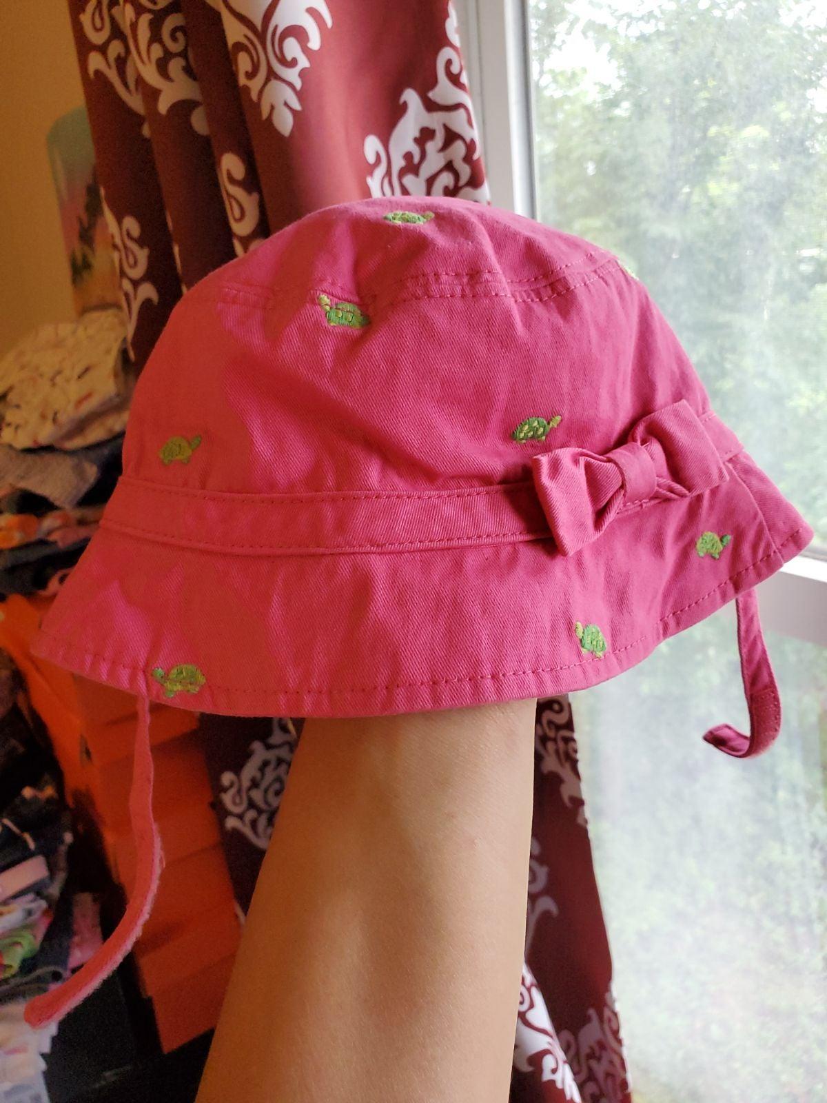 Gymboree 0-12 vintage turtle hat pink