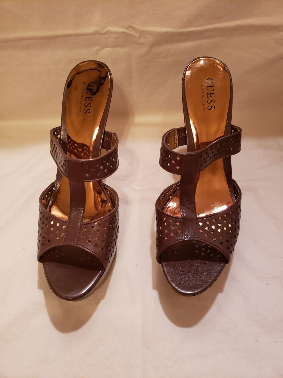 Guess women's platform leather Heels