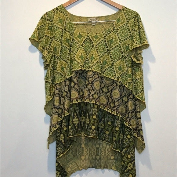 Boho Short Sleeve Tunic by One World