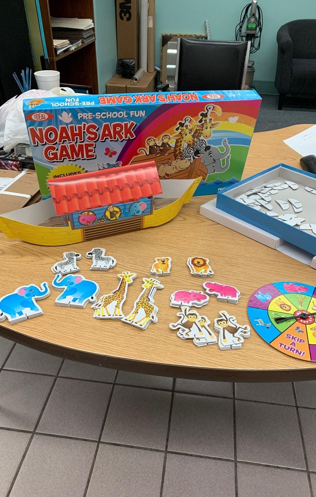 IDEAL Noah's Ark Board Game Preschool
