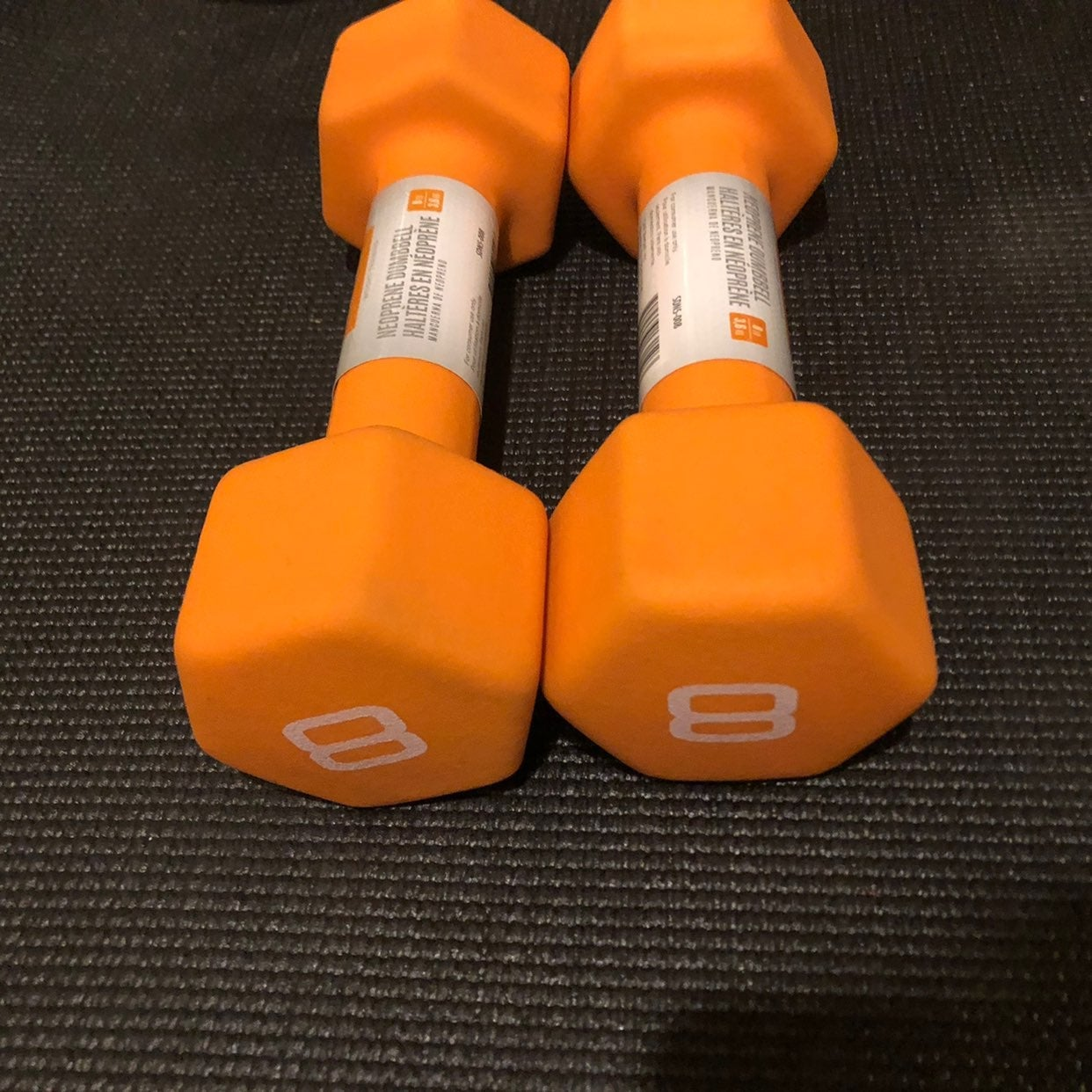 8Lbs dumbbell set (x2) 16 lbs total