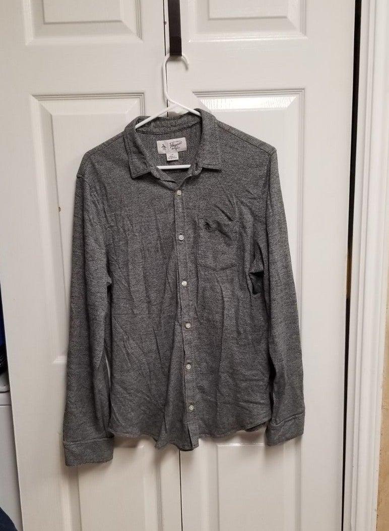 Men's Penguin Long Sleeve Shirt sz Lg
