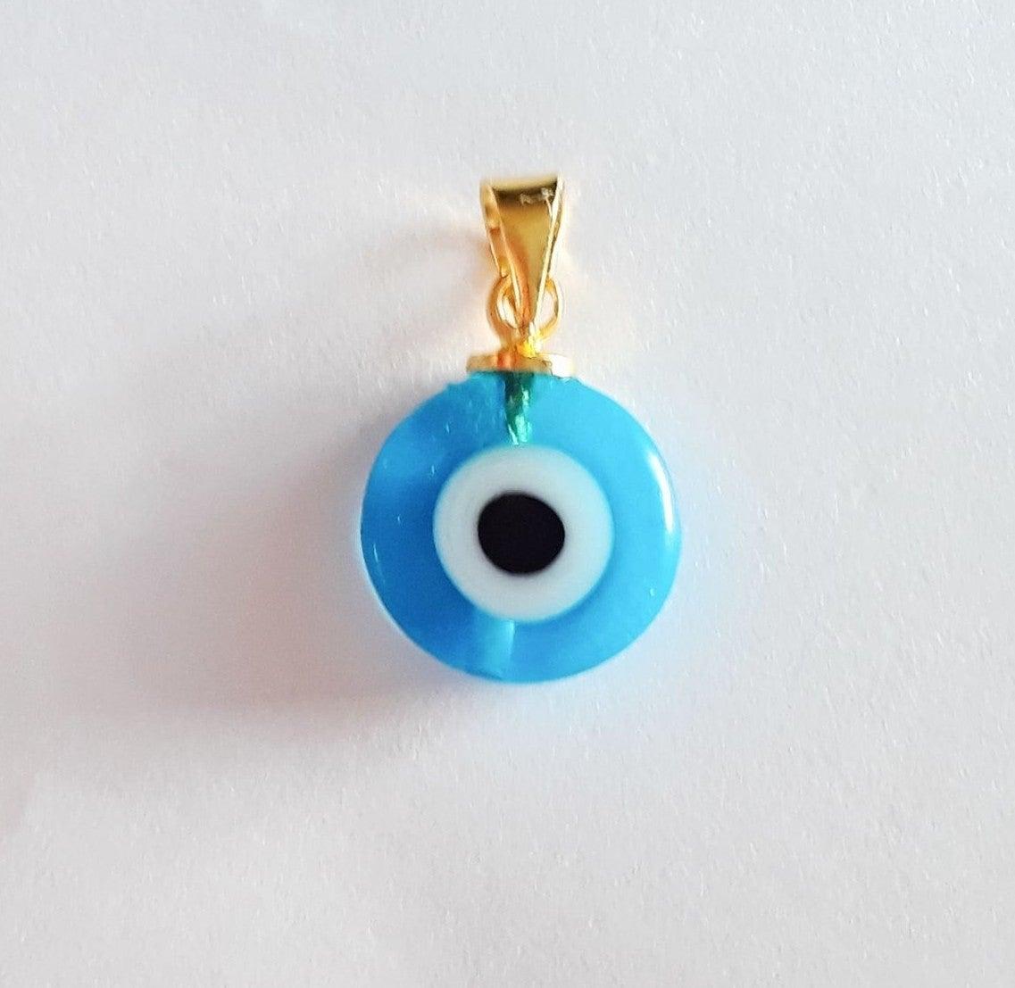Evil Eye Lampwork Glass Pendant