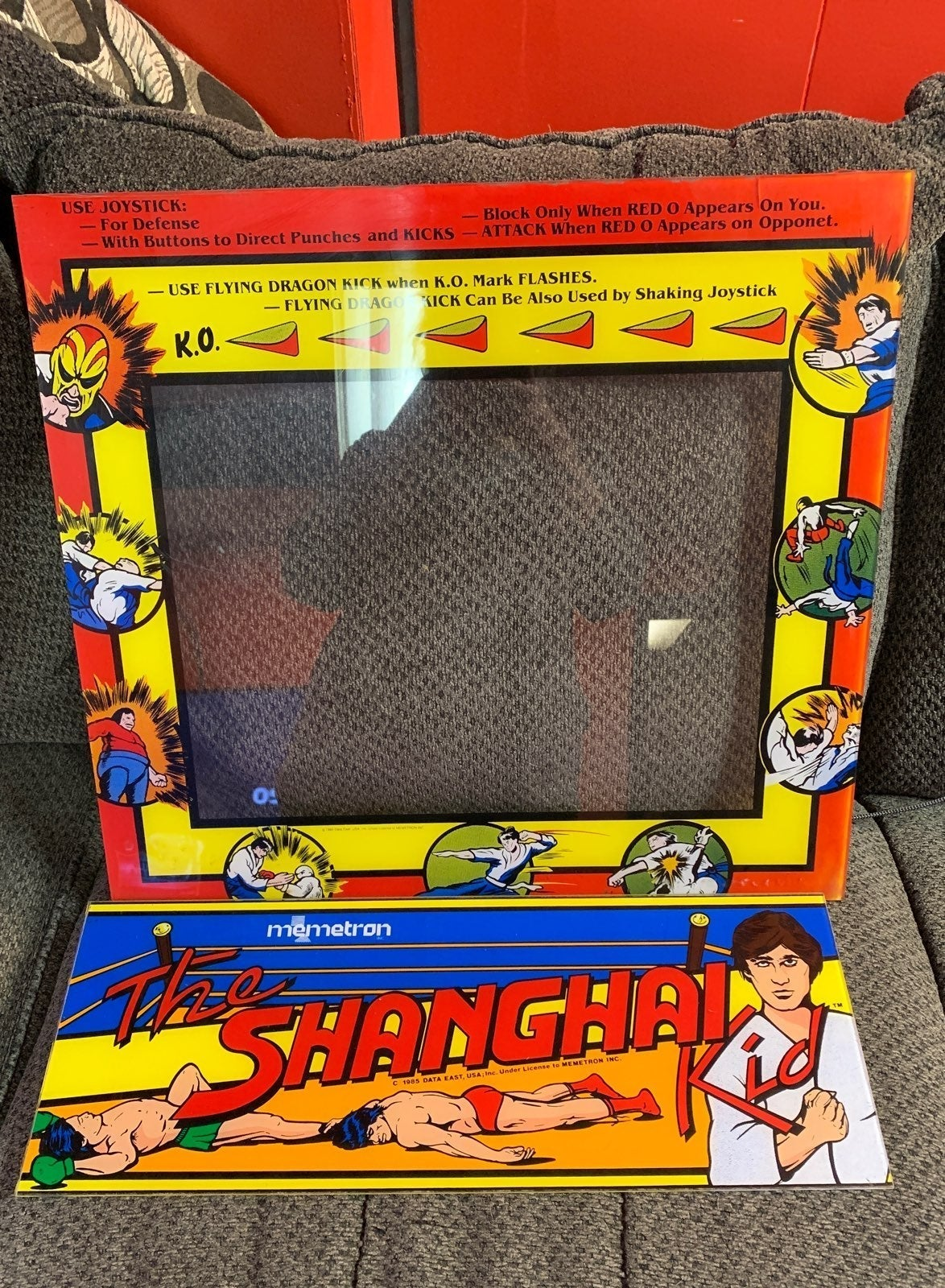 RARE The Shanghai Kid Arcade Bezel and M