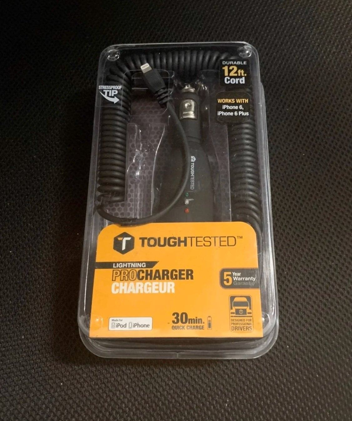 Toughtested LIGHTNING 3.0 AMP Car Charge