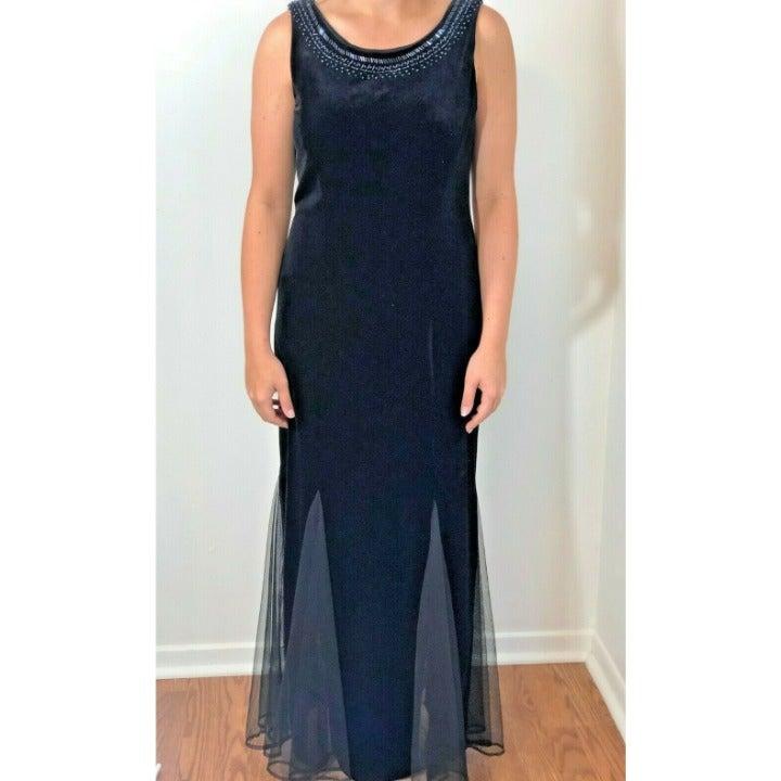 Sheri Martin Gorgeous Black Velvet Sz 8