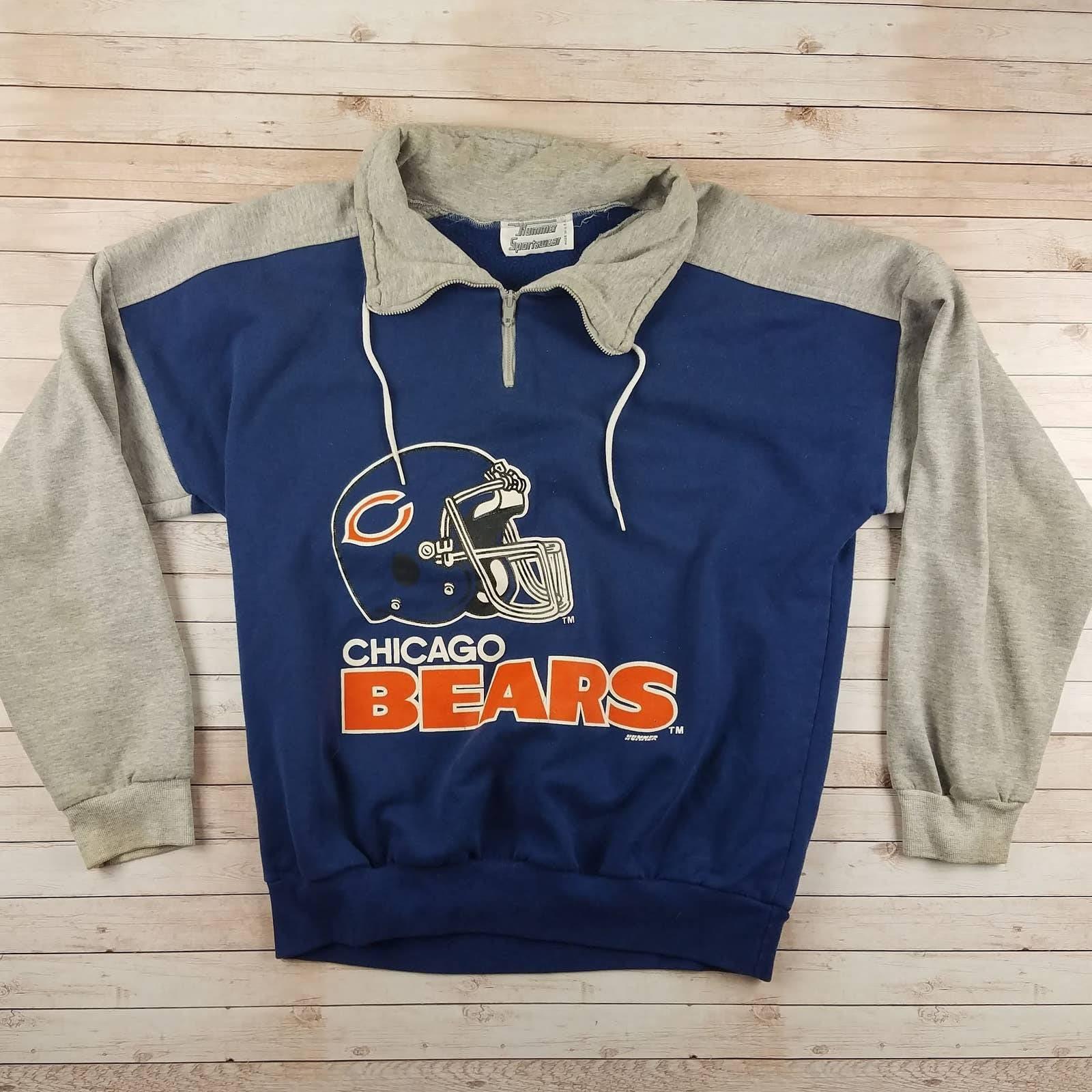 VTG 80s Chicago Bear Collared Sweatshirt