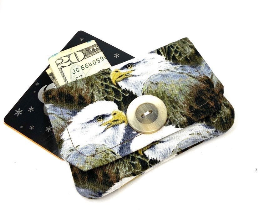 Eagle Fabric Card Wallet- Handmade