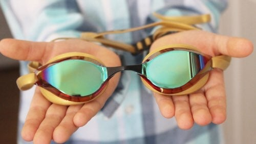 Arena Python Mirrored Goggles Revo-gold