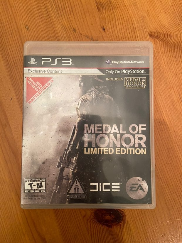 Metal of Honor Limited Edition PS3 game