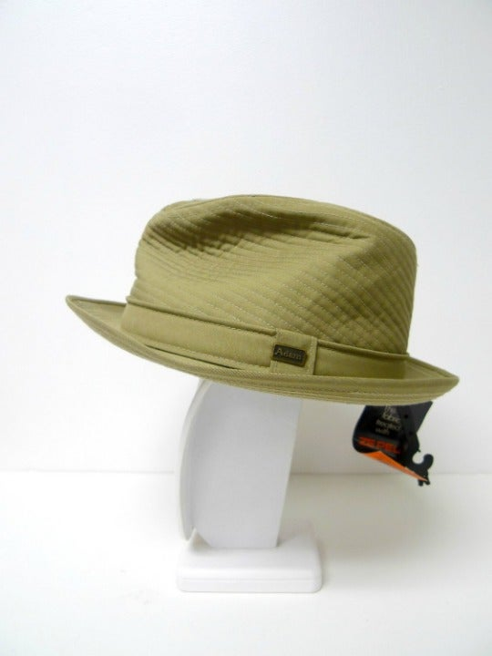 Adam quilted fedora hat . made in USA