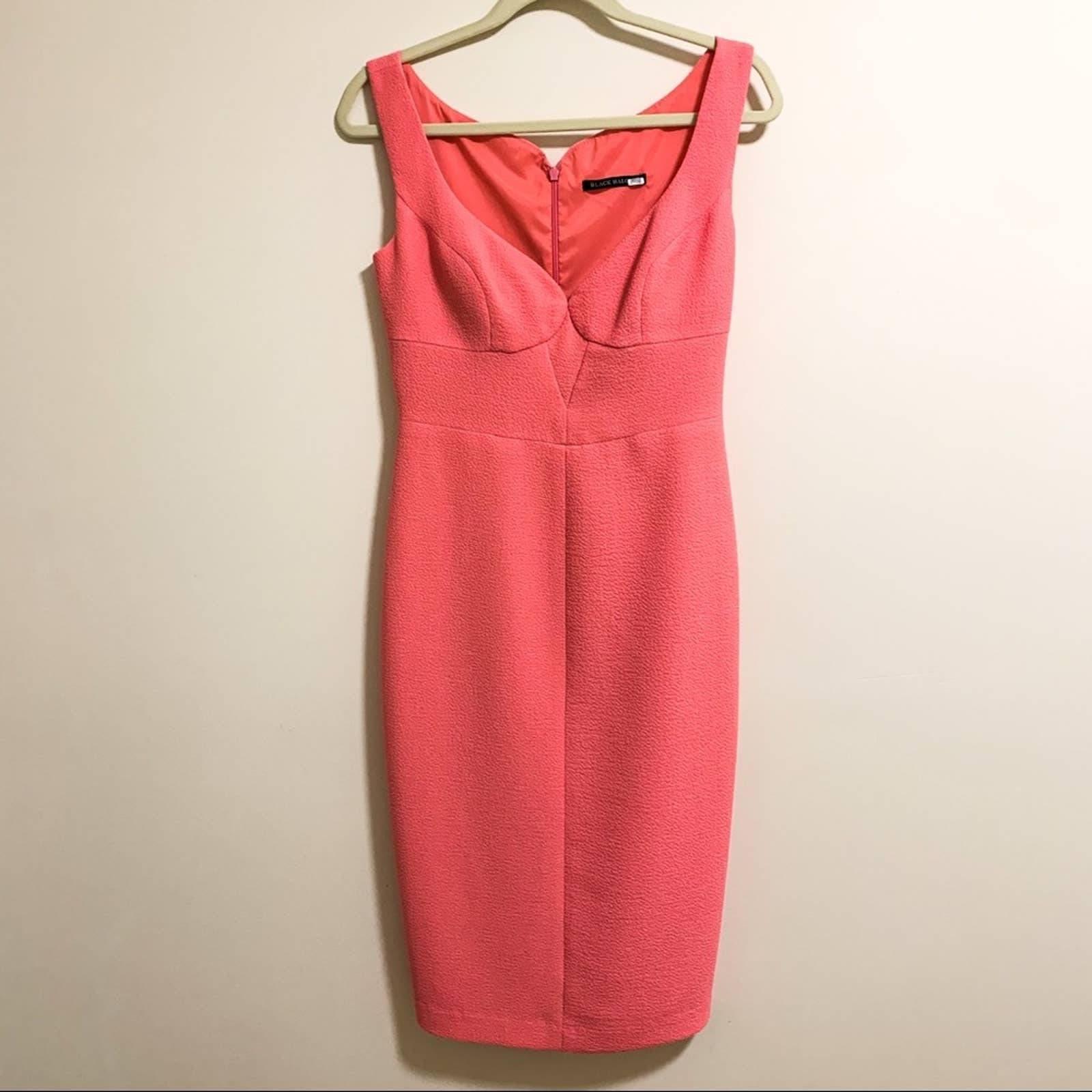 Black Halo Pink Ally Sheath Dress Size 6