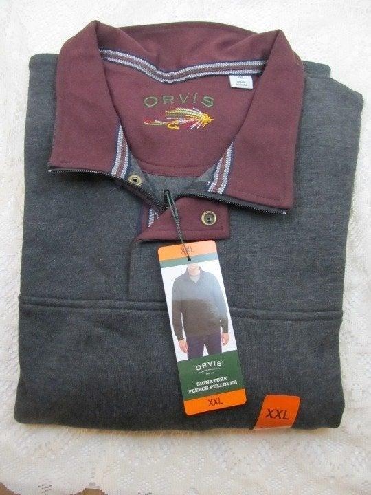 Orvis Men XXL Sweatshirt Fleece Pullover