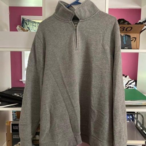 Large Fleece Quarter Zip Sweatshirt