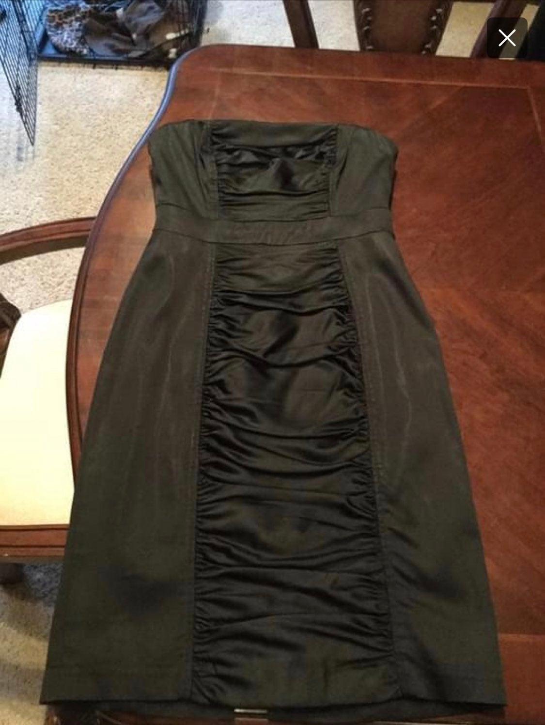 Kay Unger black strapless dress