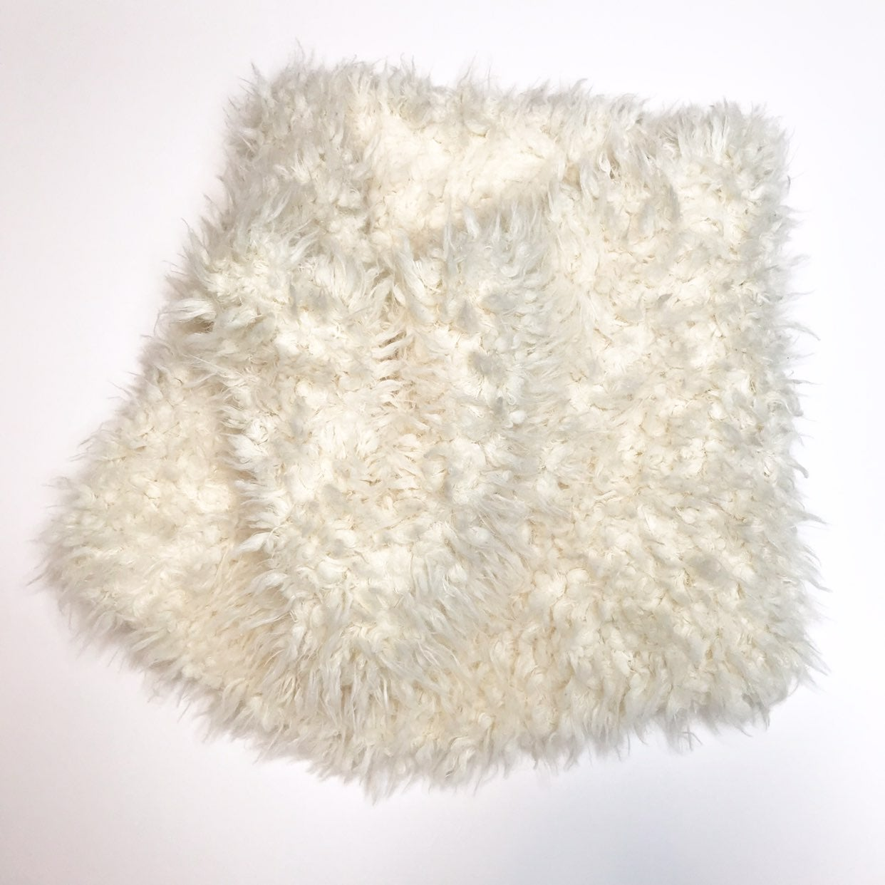 Urban Outfitters Cream Sherpa Scarf