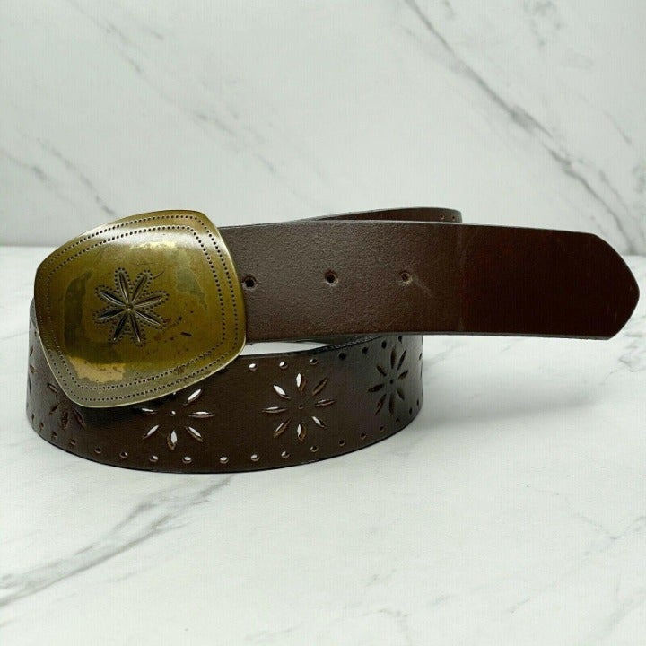 Candie's Brown Vintage Floral Belt