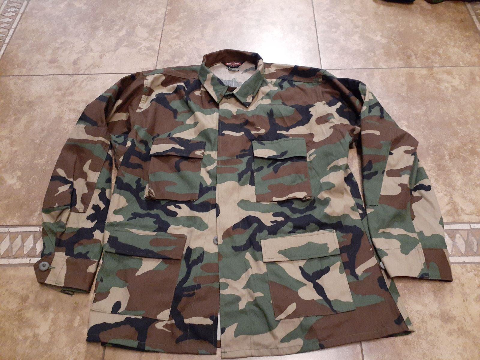 Military Camo  Long Sleeves Shirt Mens X