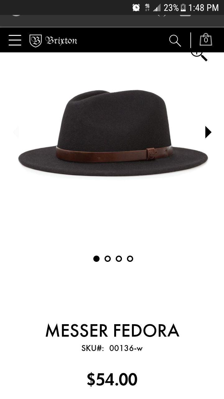 Brixton Wool Fedora Hat