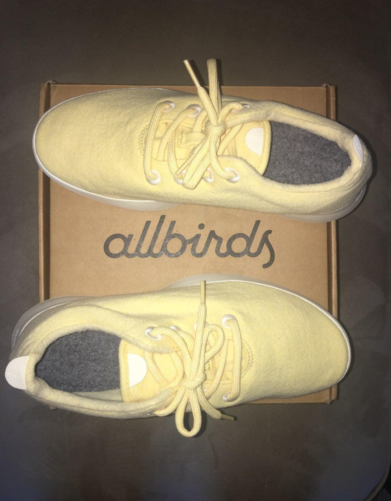 Allbirds Yellow Wool Runners (womens 10)