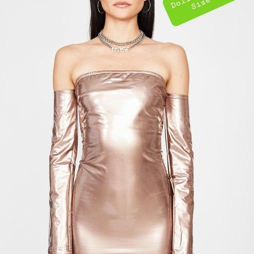 Dollskill NWT dress gold corset back