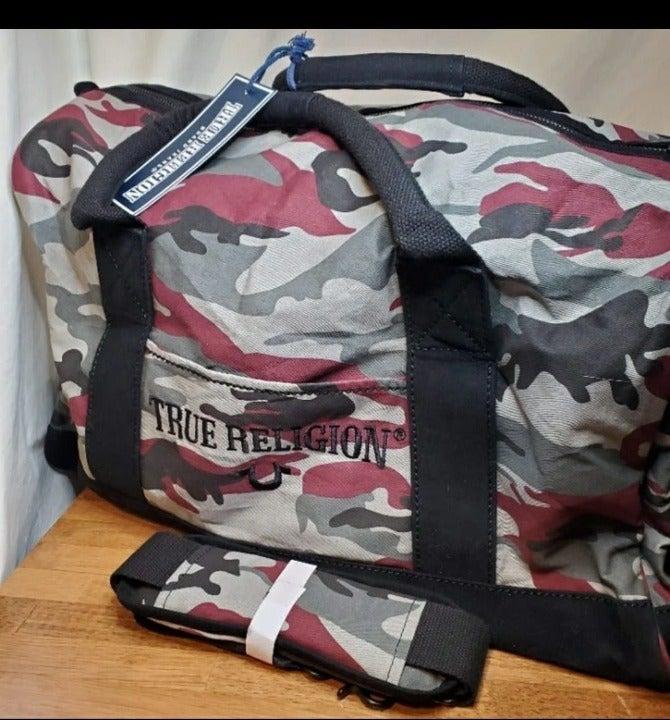 NWT True Religion Camo Duffle Bag
