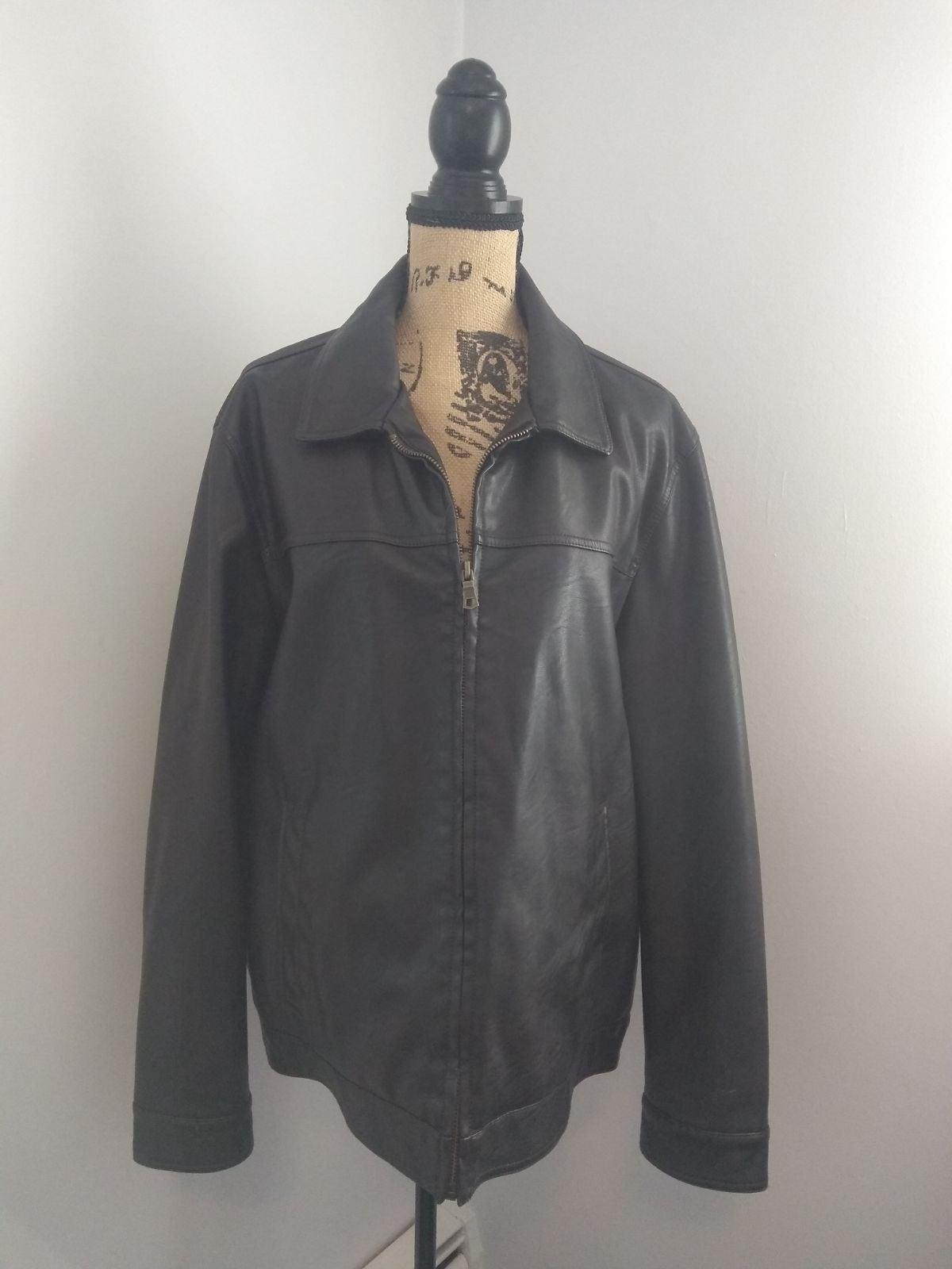 Tommy Hilfiger Leather Look Jacket, Size