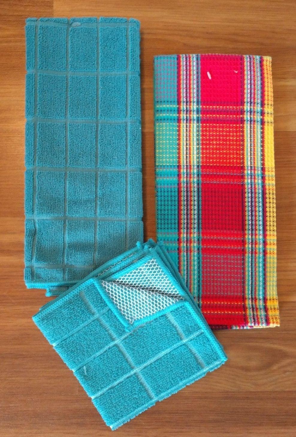 Teal Kitchen Towel Set/4