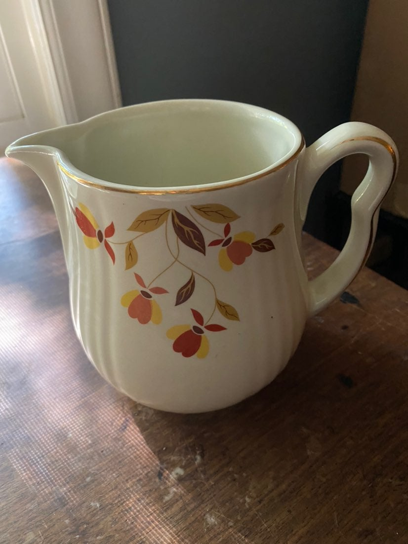 Jewel Tea Autumn Leaves Pitcher
