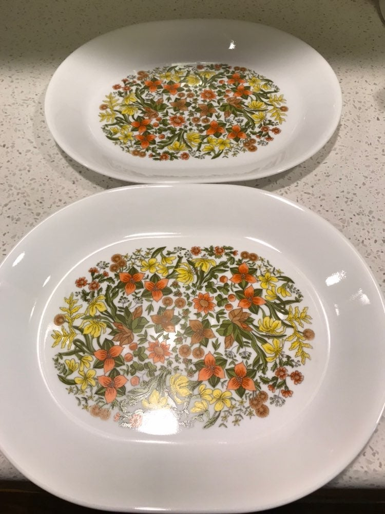 Set of 2 Corelle Indian Summer Platters