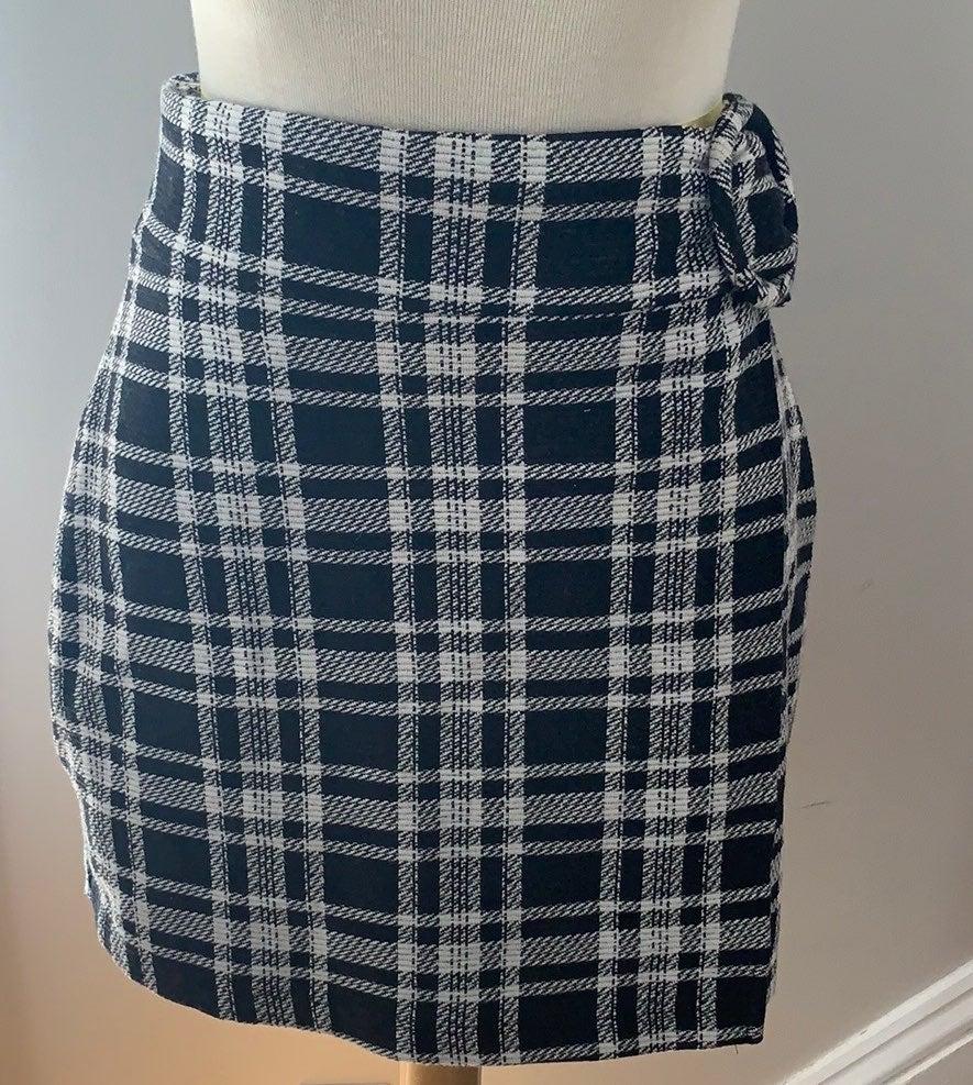 Zara Plaid Wrap Skirt