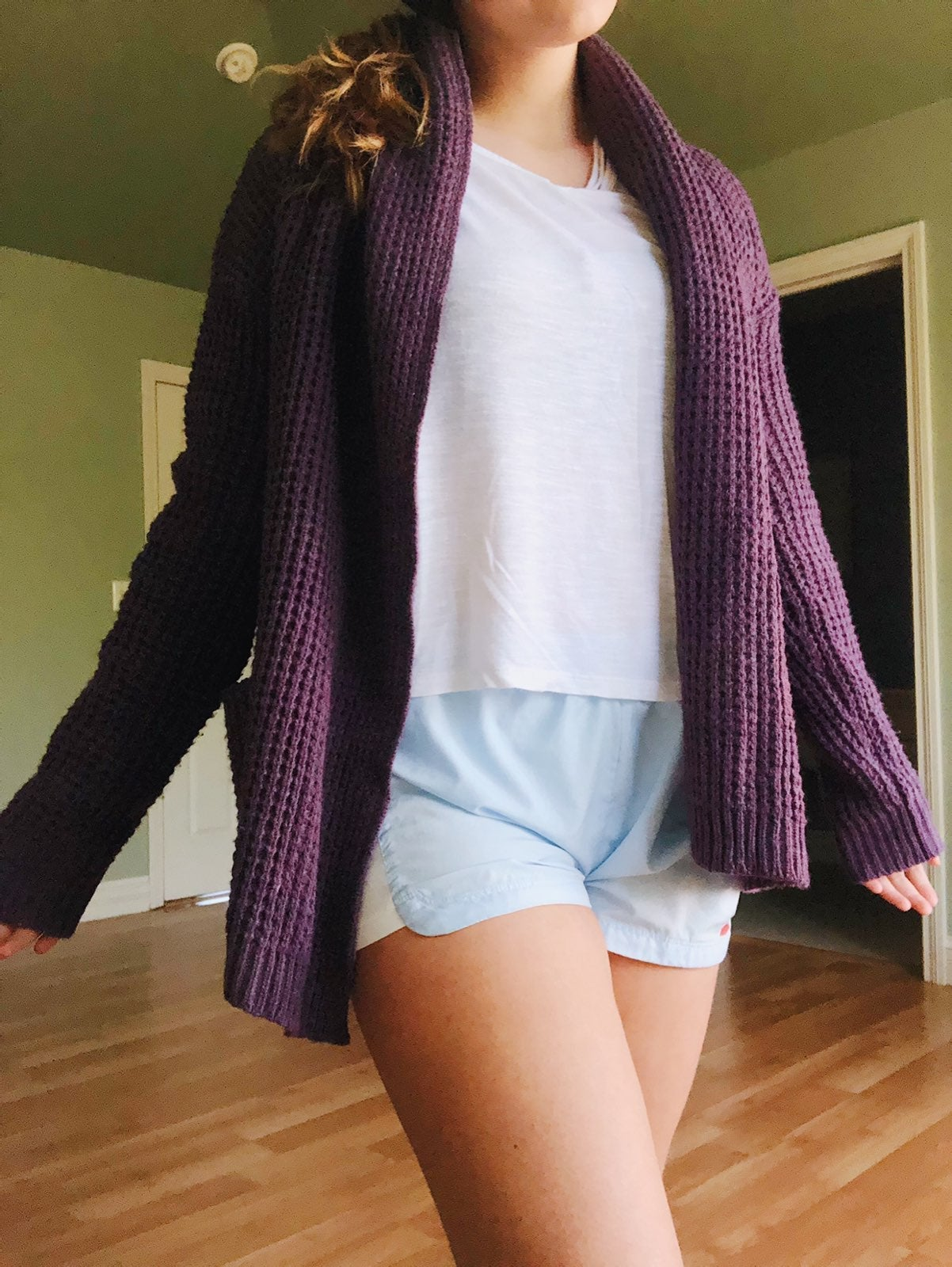 Purple knit Cardigan