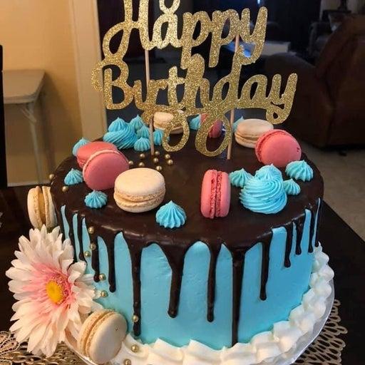 CAKE TOPPER - HAPPY BDAY