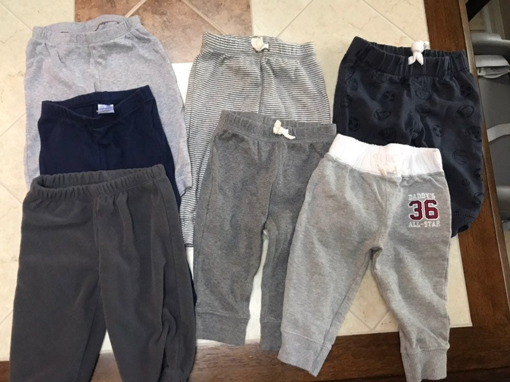 7 pairs - Carters boys pants - 6 months