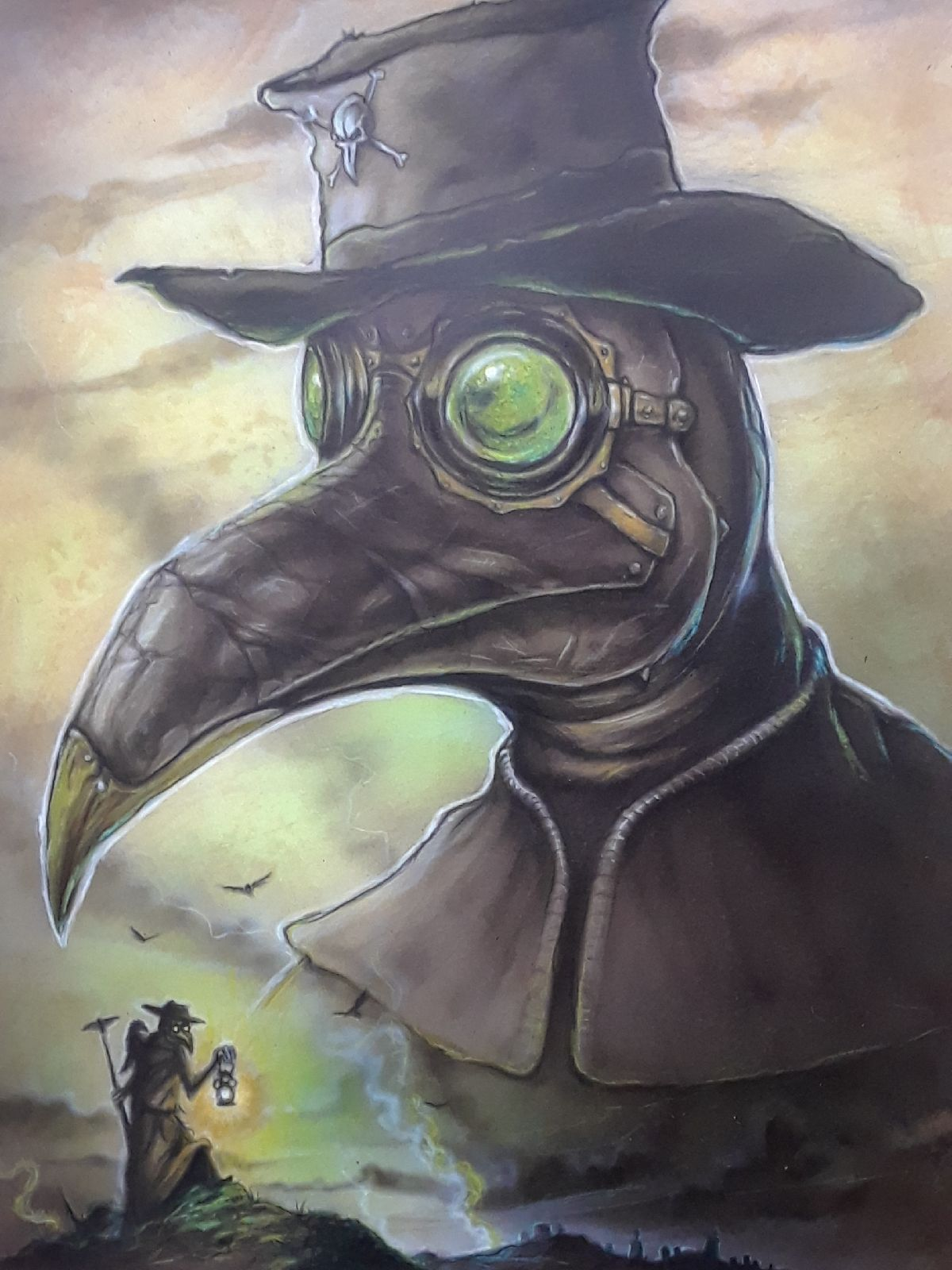 Plague Dr. painting