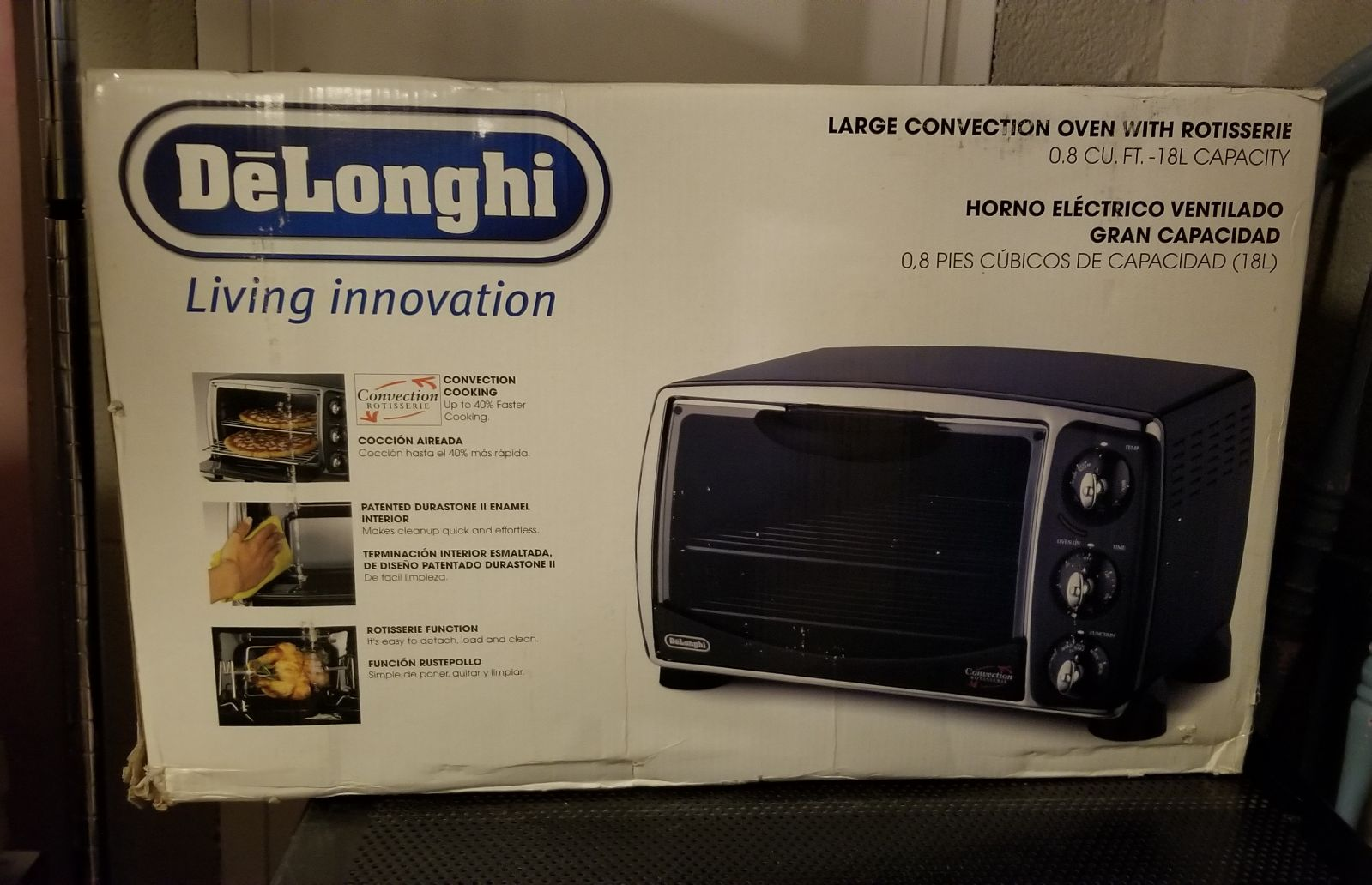 DeLonghi Large Convection Oven with Roti