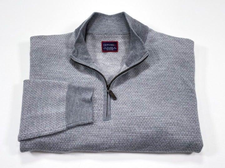 UNTUCKit XXL Merino Wool 1/4 Zip Sweater