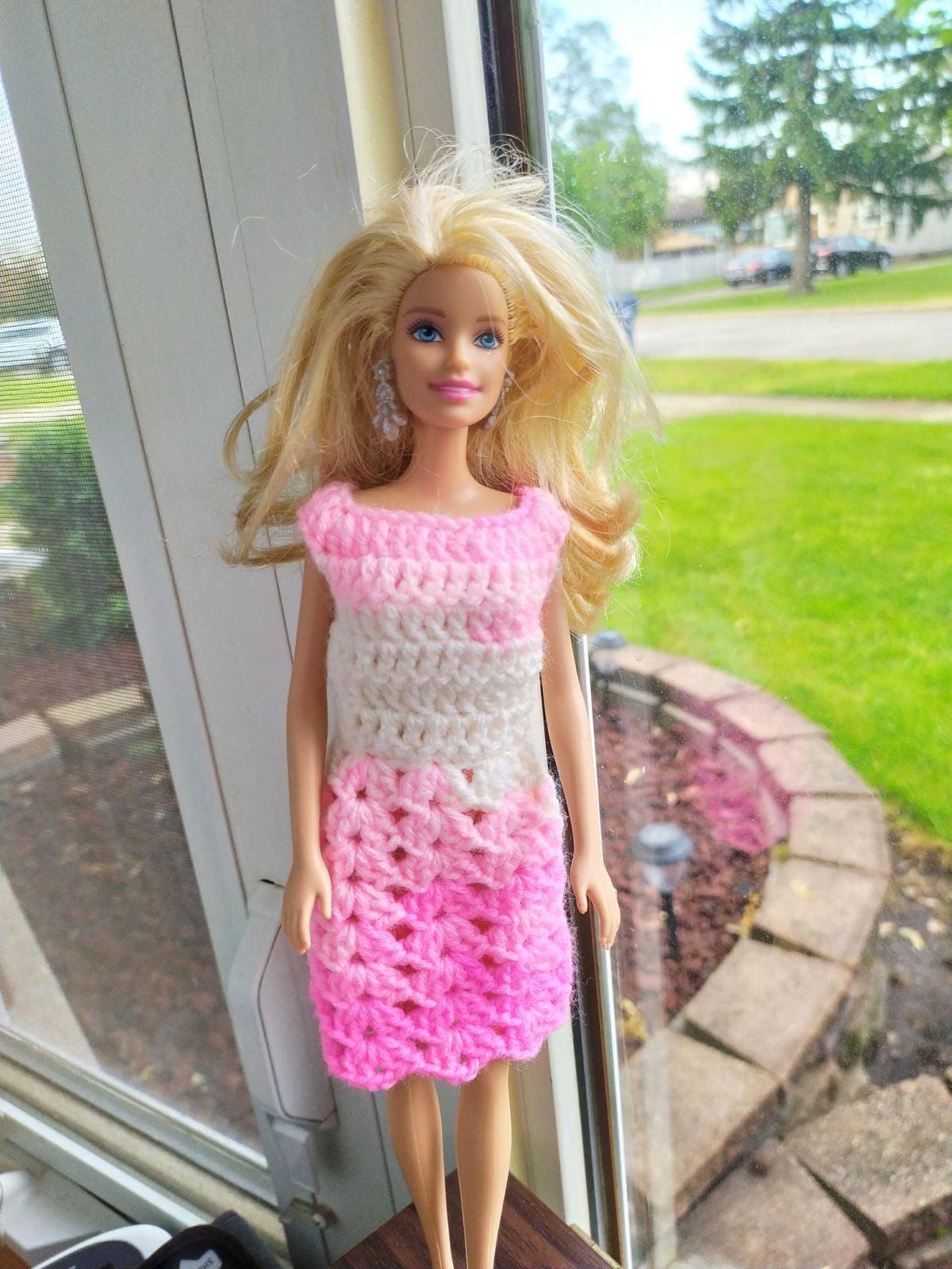 Handmade Crochet Barbie Dress