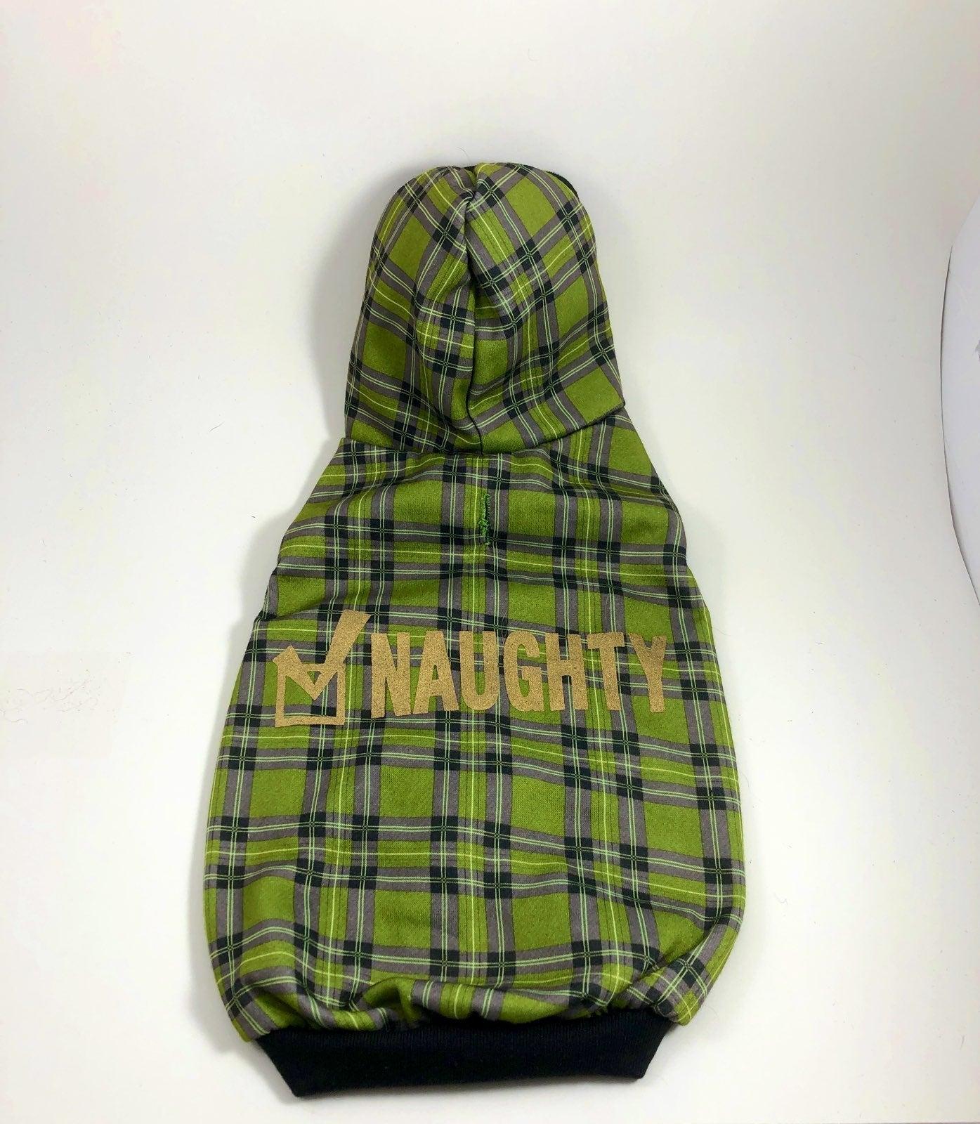 """Dog jacket/coat """"naughty"""" NWOT"""