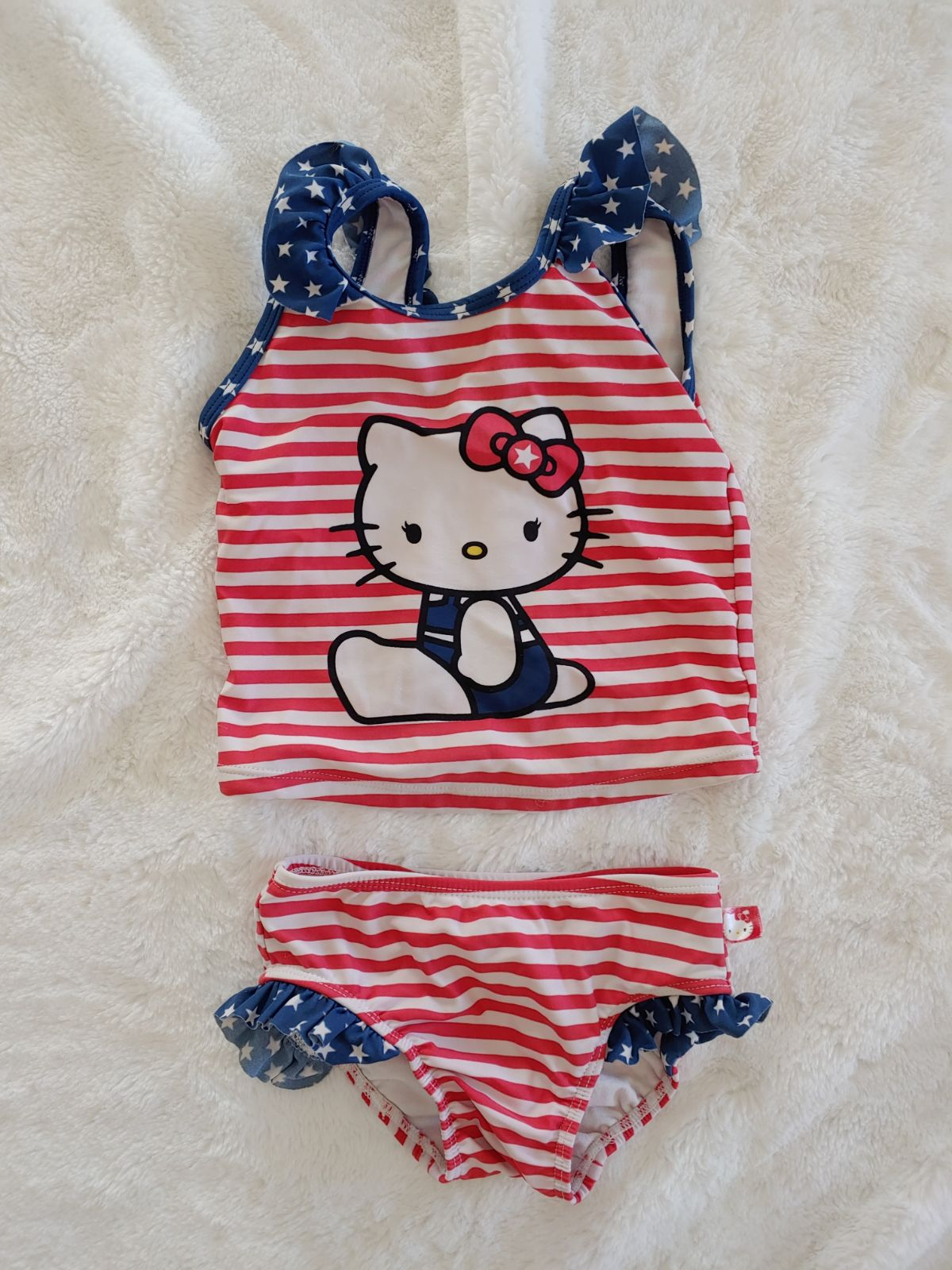 Hello kitty 3T patriotic bathing suit
