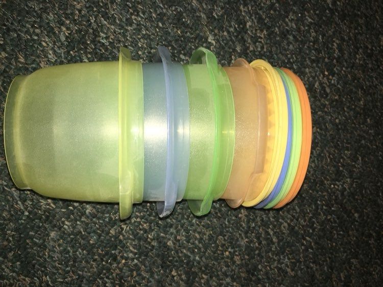 Tupperware set of 4 containers new