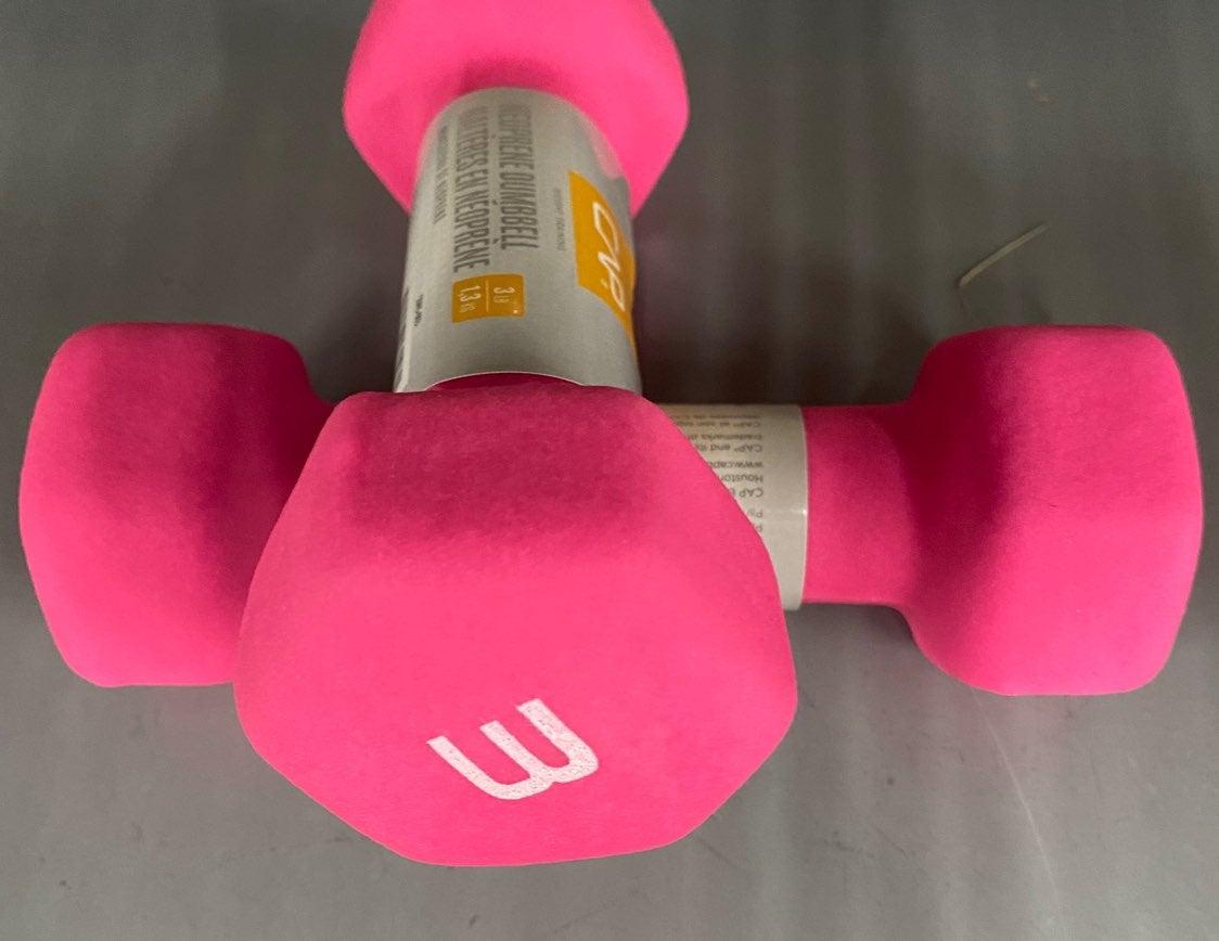 CAP Neoprene Hex Dumbells SET of 3lbs