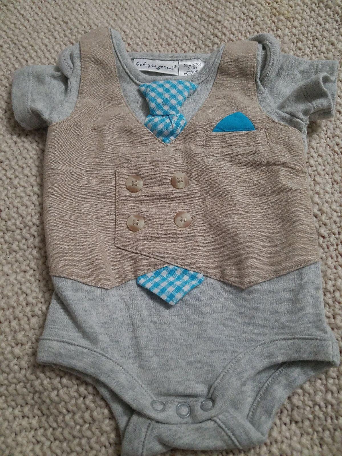 #710 Babyrageous Newborn Tie Prep Formal