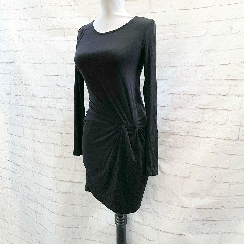 EVERLY Black Twist Knot Mini Dress XS S