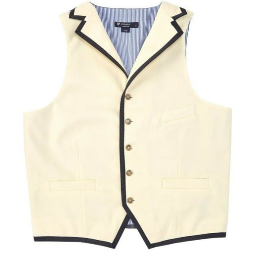 Cremieux Travis Wool Vest M Ecru Lined
